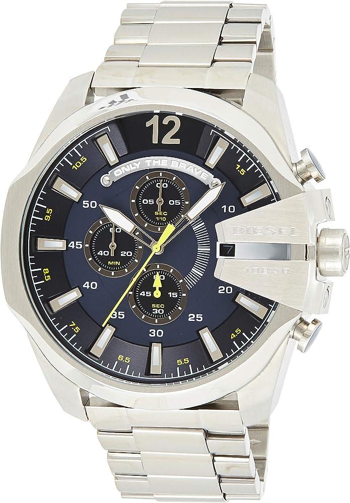 Diesel orologio, cronografo per uomo,in acciaio inossidabile DZ4465