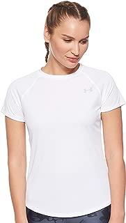Under Armour Kadın Tişört UA Speed Stride Short Sleeve-WHT, Beyaz, S (Üretici ölçüsü: S)