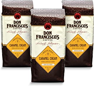 Don Francisco's Ground Caramel Cream Flavored Coffee (3 x 12-ounce bags)