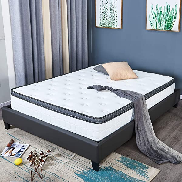 Full Size 8 Inch Latex Mattress Hybrid Memory Foam And Latex Innerspring Independently Encased Coil Adaptive Comfort Layers Great For Sleep And Balance Between And Firm But Comfortable Feel