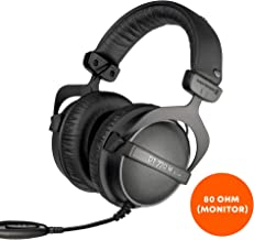 beyerdynamic DT 770 M 80 Ohm Over-Ear-Monitor Headphones in black, closed design, wired, volume control for drummers and sound engineers FOH