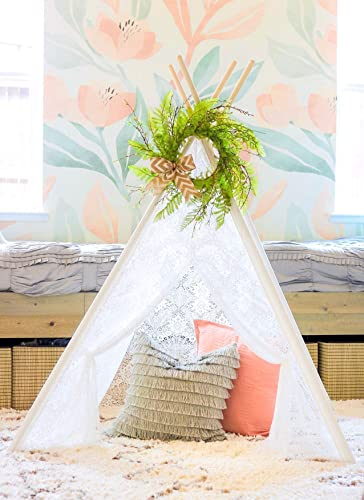 wholesale Tiny Land Kids Lace Teepee and outlet sale outlet sale Green Wreath Bundle online