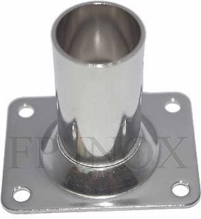 Embase 60° Ronde 25mm inox 316 A4 Platine