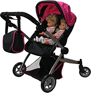 Babyboo Deluxe Twin Doll Pram/Stroller with Free Carriage (Multi Function View All Photos) - 9651A