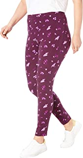 Woman Within Women's Plus Size Stretch Cotton Printed Legging