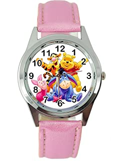 Winnie The Pooh Leather Band Quartz Watch + Spare Battery + Gift Bag