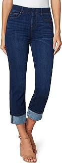 Liverpool Women's Chloe Crop Wide Cuff High Performance Denim Jeans