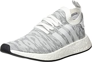 adidas Mens NMD R2 Primeknit Medium Grey White Textile Trainers 8 US