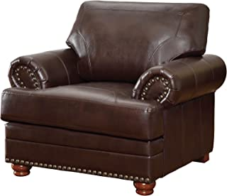 Colton Chair with Comfortable Cushions Brown