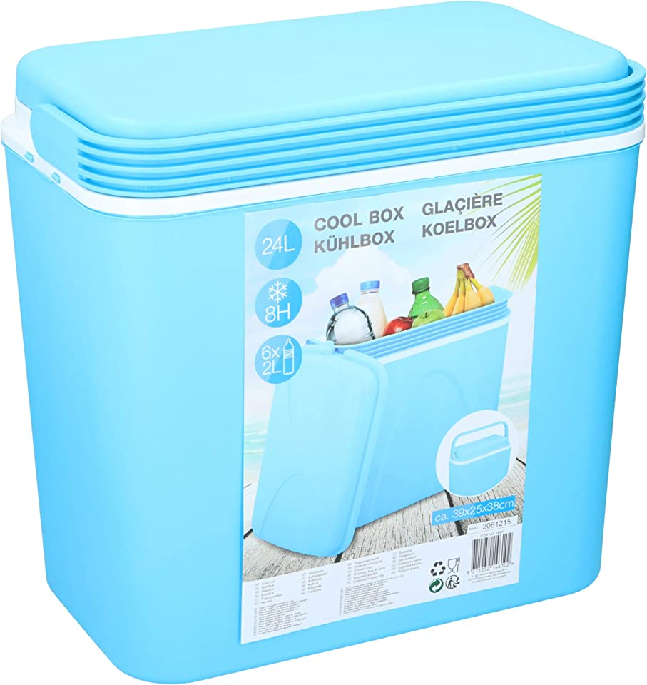 Galvog® 24 Litre Large Cool Box - Perfect for Picnic Beach Camping - Fully Insulated Ice Cool Box