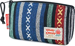 Rough Enough Multi Function Ethnic Folk Embroidered Stylish Fancy Small Portable Makeup Pouch Cosmetic Bag Pencil Case Mobile Accessories Bags Organizer Holder Storage with Zipper for Outdoor Travel