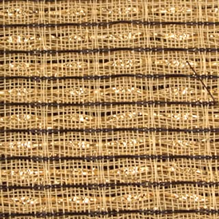 "Cabinet Grill Cloth, Brown/Beige with Gold Accent, 34"" Width"
