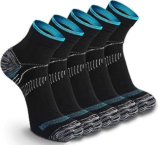 5 Pares Calcetines de Running Deportivos Compresión Ligera Hombres Mujer de Deporte Transpirables