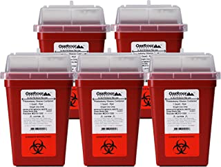 1 Quart Size (Pack of 10) | Sharps Disposal Container | OakRidge Products