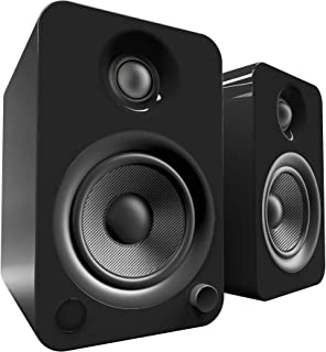Kanto YU4 Powered Bookshelf Speakers with Bluetooth® and Phono Preamp (Gloss Black)
