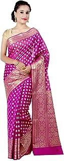 magenta colour saree