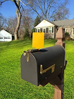 Mail Time! ® Yellow Mailbox Alert Signal Flag for Long Rural Driveways