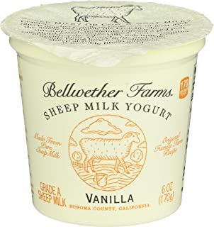 Bellwether Farms, Sheep Milk Yogurt, Vanilla, 6 oz