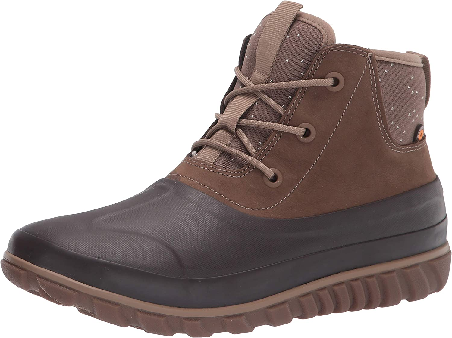 Bogs Women's Classic Casual Lace Leather Snow Boot, Tan, 10