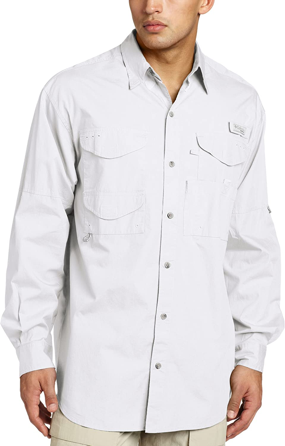 Columbia Men's Bonehead Long Sleeve Shirt Tall,White,LT