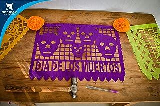 Papel Picado - Día de Muertos - 100 Frontales. Decoración para altar de ofrendas.