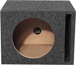 "BlitzWolf Single 12"" Subwoofer Universal Enclosure Slot Speaker fit Carpeted Car Truck Vented Unloaded Port SubSpeaker Box"