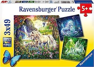 Ravensburger 92918 Beautiful Unicorns Puzzle 3x49p,Children's Puzzles