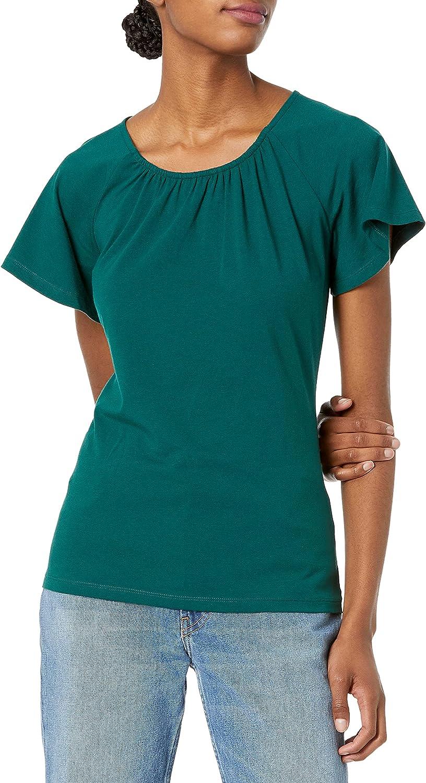 Amazon Essentials Women's Classic Fit Cape Sleeve Open Crewneck T-Shirt