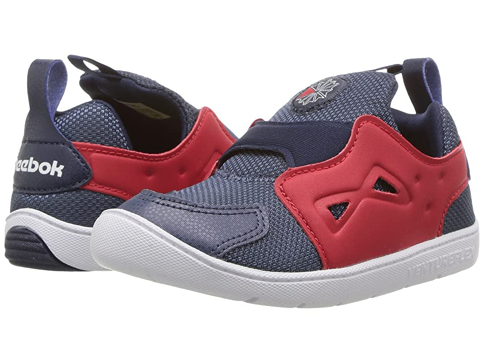 Reebok Kids Ventureflex Slip-On (Toddler) (Smoky Indigo/Primal Red/Navy/White) Boys Shoes