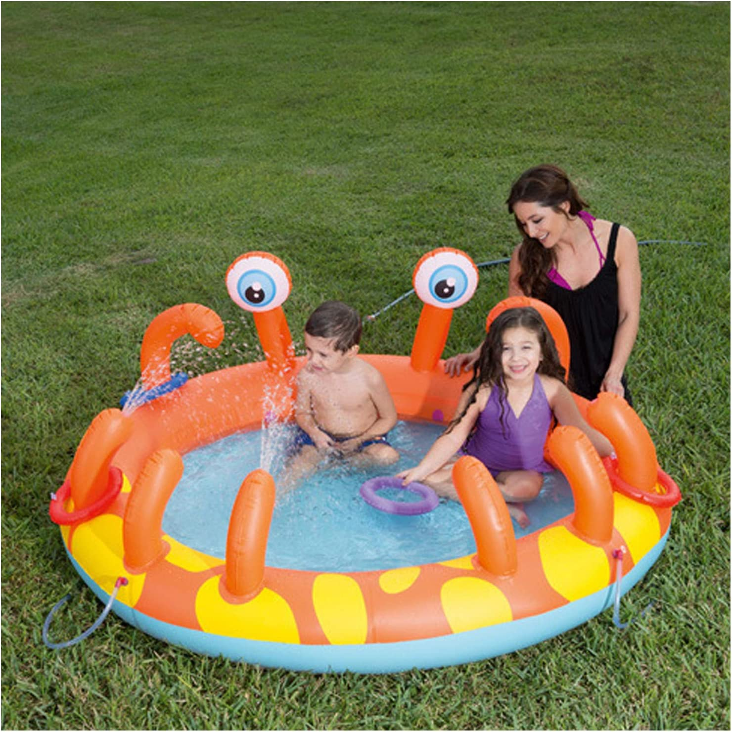 MEIHOME Inflatable Pool for with Sprinkler Ranking TOP3 Kids Translated Spray