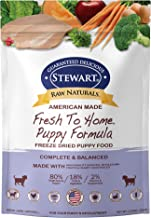 Stewart Raw Naturals Freeze Dried Puppy Food Grain Free Made in USA with Chicken, Fruits, & Vegetables for Fresh To Home All Natural Recipe, Trial Size