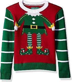 "Ugly Christmas Sweater Little Boy's (4-7)""Elf Head Shot Xmas Sweater"