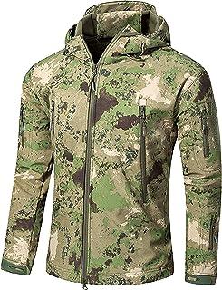 12a0f28072 Impermeable Militar táctica Lucha contra la Chaqueta de Softshell Camping  al Aire Libre Caminar Camuflaje Hoodie
