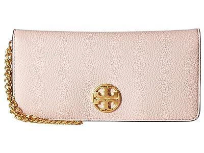 Tory Burch Chelsea Wristlet Envelope (Shell Pink) Wristlet Handbags
