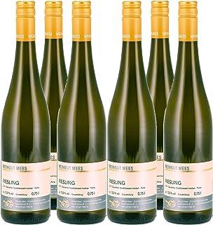 Weingut Mees RIESLING TROCKEN GUTSWEIN 2019 Weißwein Wein Deutschland Nahe Paket 6 x 750 ml 100% Riesling