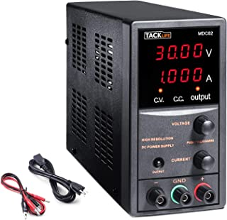 DC Power Supply Variable, Adjustable Switching Regulated Power Supply 30V 10A with Course and Fine Adjustments, 4-Digits D...