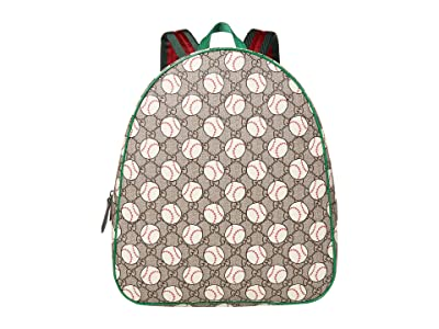 Gucci Kids Backpack 433578HYBAN (Little Kids/Big Kids) (Beige/Ebony/VRV) Backpack Bags
