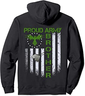 Vintage retro Flag Proud Army Brother Dog Tag Military gift  Pullover Hoodie