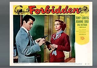 MOVIE POSTER: FORBIDDEN-LOBBY CARD #2-1954-TONY CURTIS JOANNE DRU GUN-VF/NM VF/NM