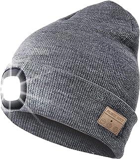 Generic Bluetooth Beanie hatt uppladdningsbar musikkeps inbyggd mikrofon – grå