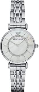 Emporio Armani Women's Watch Ar1908, Silver Band, Analog Display, 32 mm