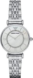 Emporio Armani Women's Watch Ar1908, Silver Band, Analog Display