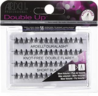 Ardell Double Up Individual Eyelashes Knot Free Naturals Short Black (12 Pack)