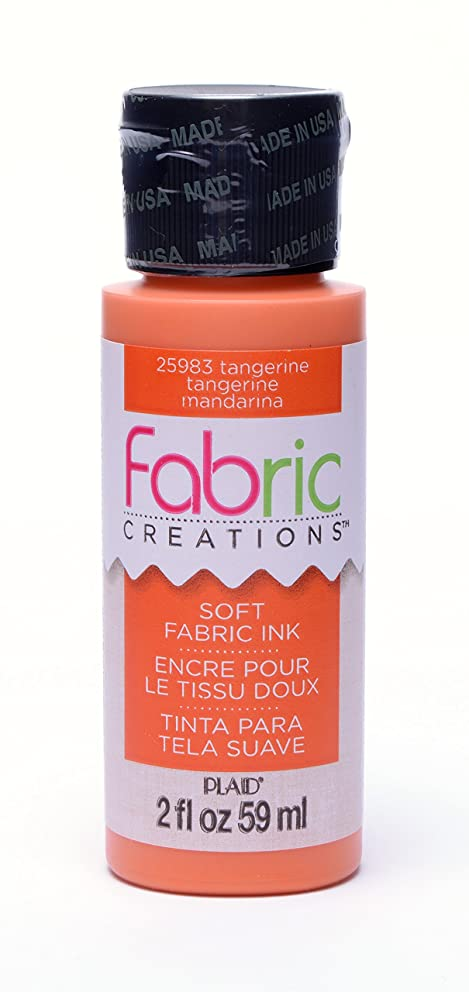 Fabric Creations Fabric Ink in Assorted Colors (2-Ounce), 25983 Tangerine