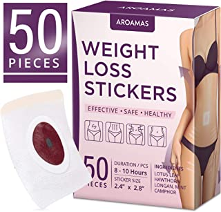 Weight Loss Sticker, Fat Burning Sticker with Magnets, Fat Burning Abdominal Fat Away Sticker Magnets, Quick Slimming, Fast Weight Loss, Fast & Effective Detox Toward a Slim Waist (50Pcs).