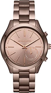 Michael Kors Women's Quartz Watch smart Display and Stainless Steel Strap MKT4019