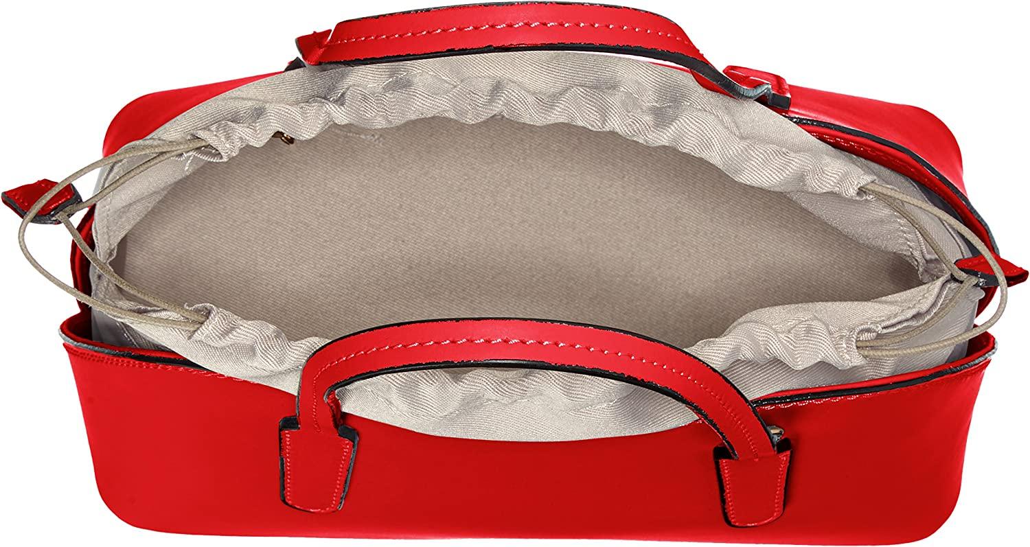 Chicca Borse 8672, Sac à Main Femme, 24x17x13 cm (W x H x L) Rouge (Red Red)