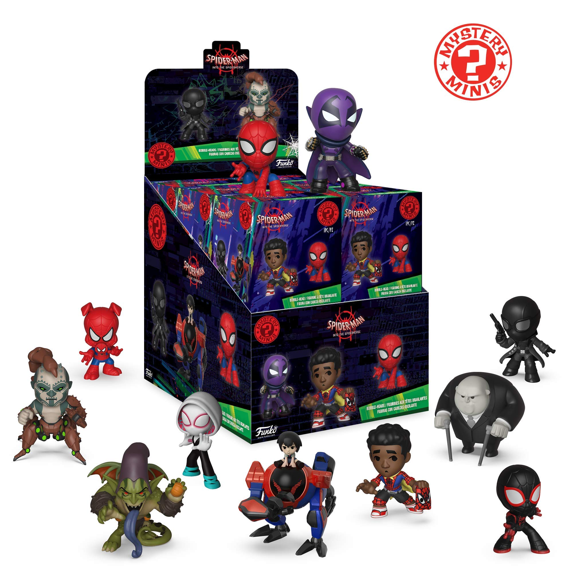 Funko – Mystery Mini Blind Box Color Marvel: Spiderman Animated Color PDQ (CDU 12), multicolor, 34757 , color/modelo surtido: Amazon.es: Juguetes y juegos