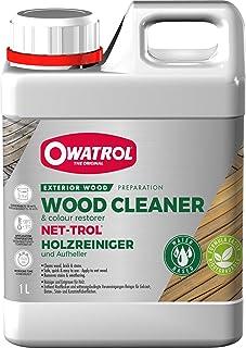 OWATROL – NET-TROL – 1 L – Holzentgrauungs- und -entfettungsmittel für alle Holzarten im Außenbereich Terrassen Gartenmöbel tropisches Holz – Gelförmiger Holzreiniger und Aufheller – biologisch abbaubar