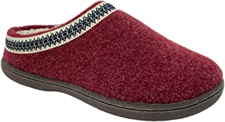 Clarks Womens Wool Felt Clog Slippers Warm Cozy Indoor Outdoor Faux Plush Soft Fur Lined Slipper for Women